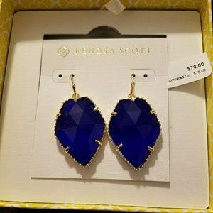 Kendra Scott cobalt blue corley earrings